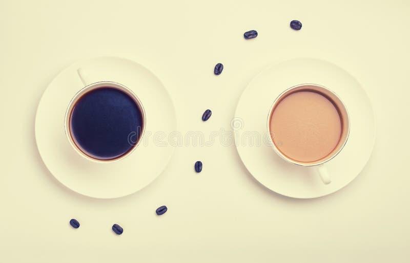 Retro blick för morgonkaffe fotografering för bildbyråer