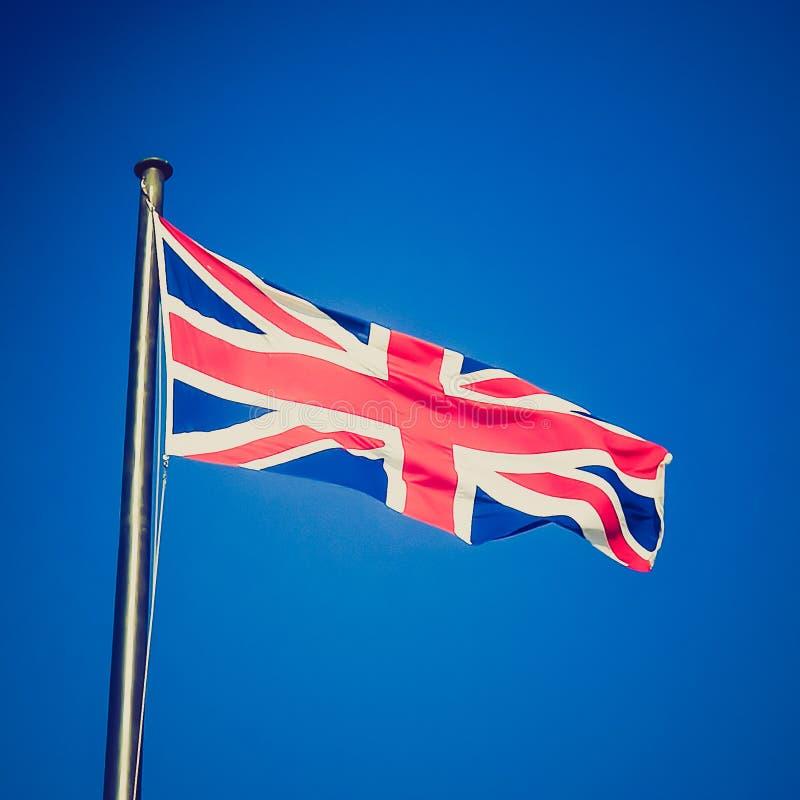 Retro- Blick Großbritannien-Flagge stockbild