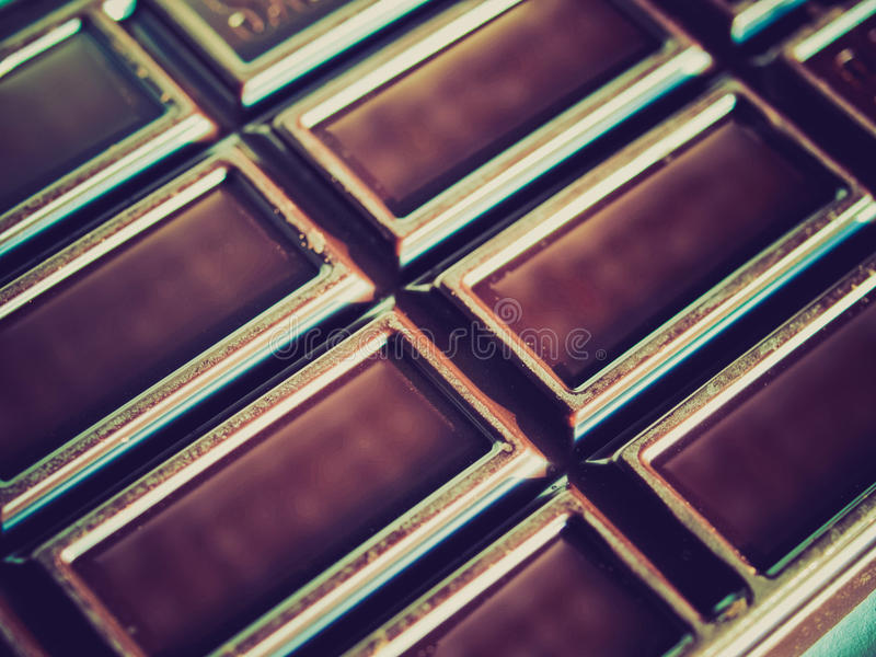Retro- Blick Schokolade stockbild