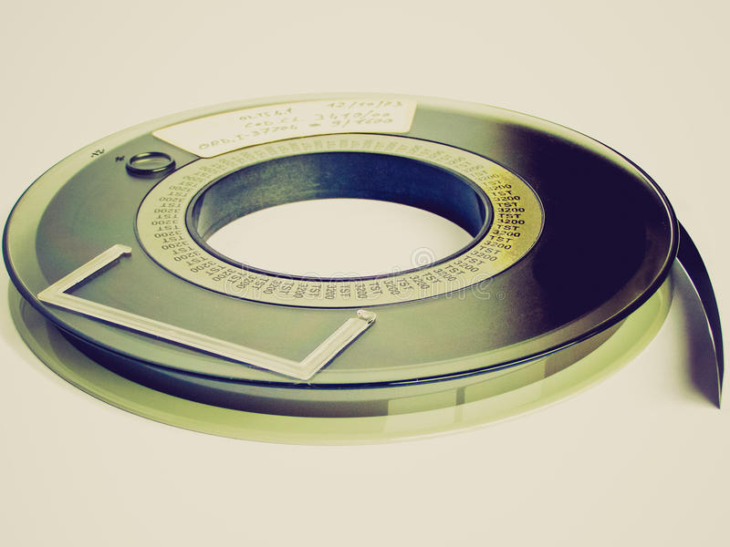 Retro blickbandrulle fotografering för bildbyråer