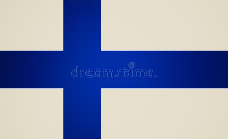 Retro blickflagga av Finland vektor illustrationer
