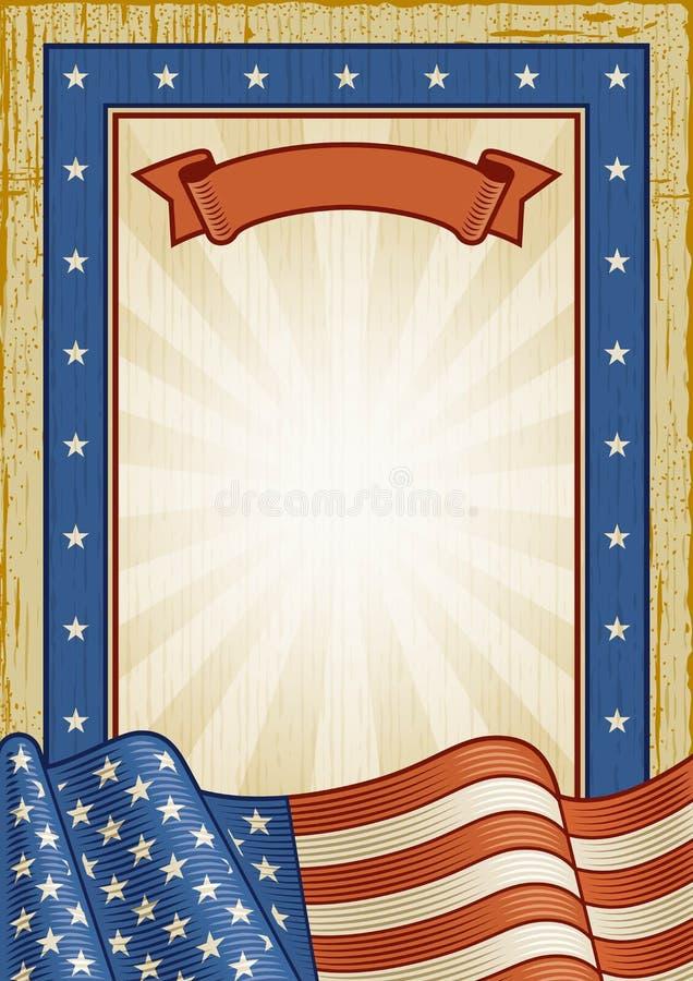 Retro blocco per grafici americano illustrazione di stock