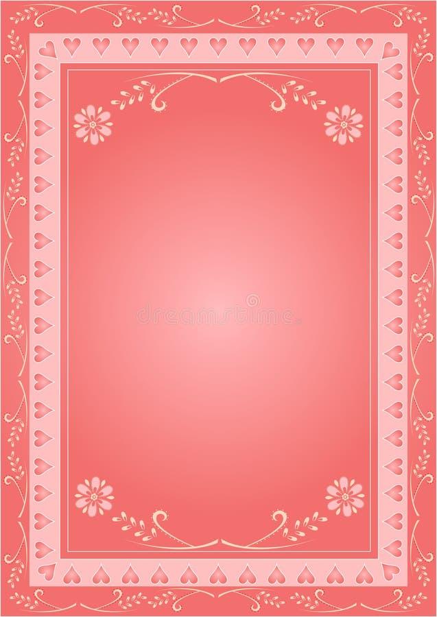 Retro blocco per grafici del biglietto di S. Valentino royalty illustrazione gratis