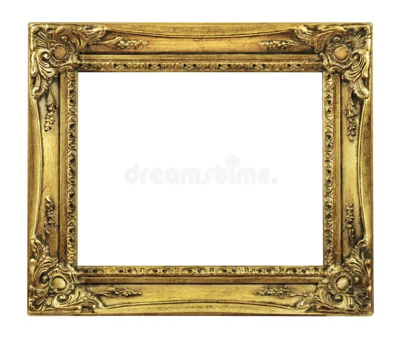Retro blocco per grafici del vecchio oro di rinascita fotografie stock