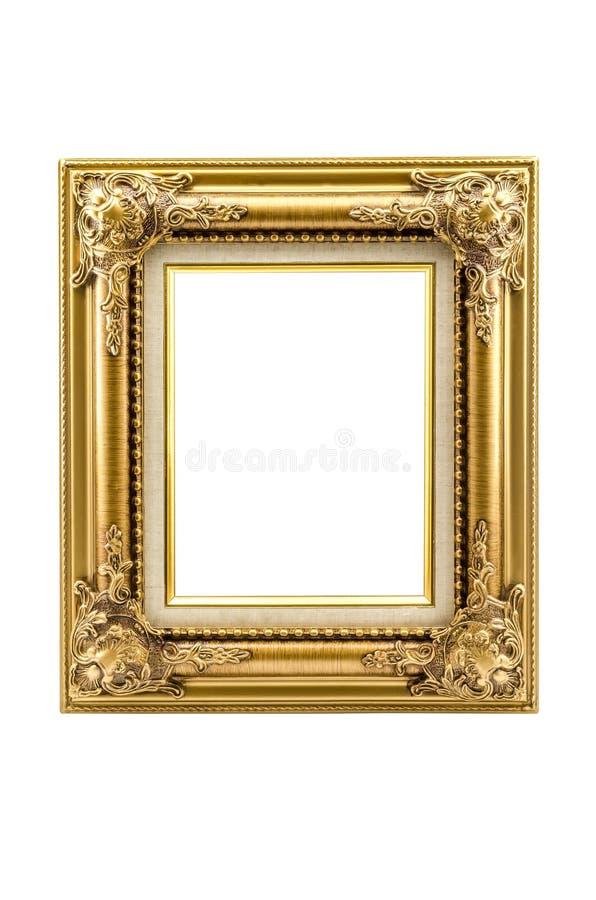 Retro blocco per grafici del vecchio oro di rinascita immagine stock