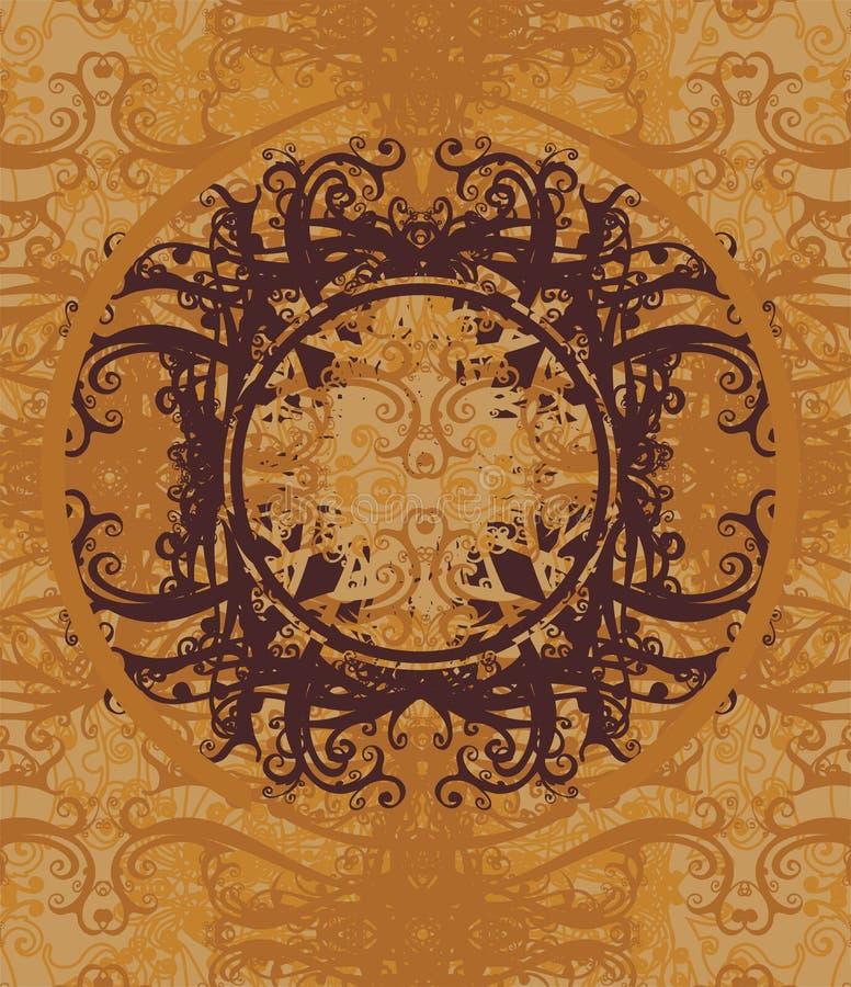 Retro bloemenachtergrond vector illustratie