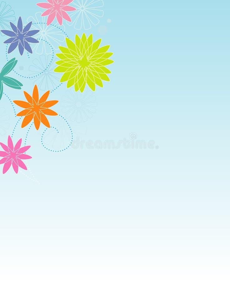 Retro BloemenFrame vector illustratie