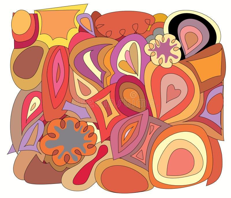 retro blom stock illustrationer