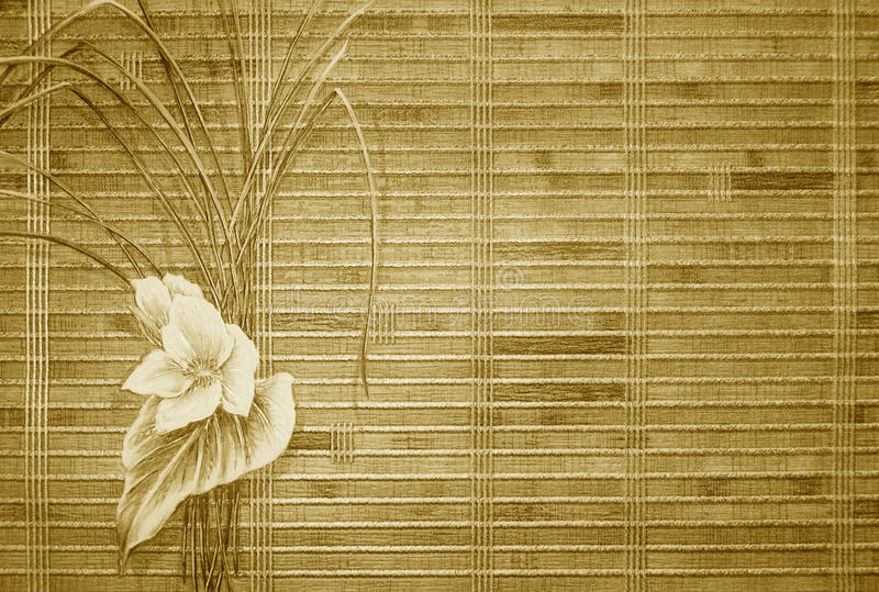 retro blom- guld för bakgrund fotografering för bildbyråer