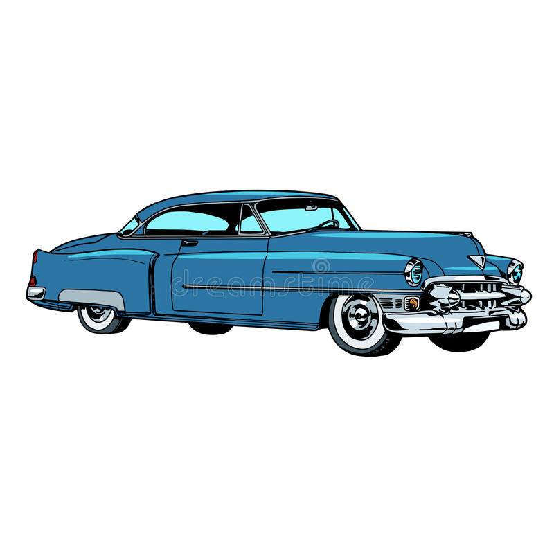 Retro blue car classic abstract model royalty free illustration