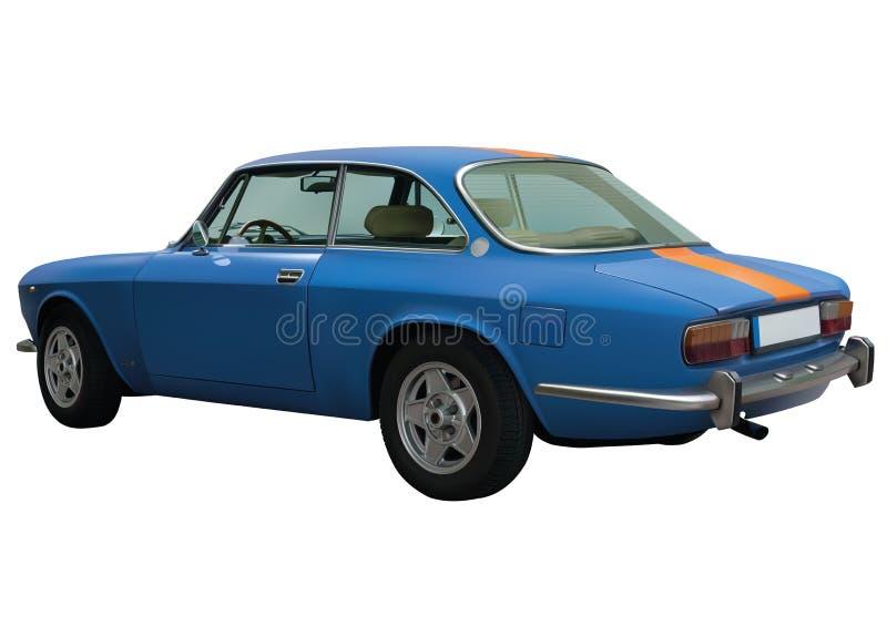 Download Retro blue car in vector stock vector. Image of antique - 31138833