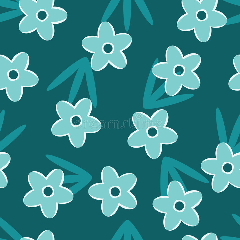 Retro Blue floral seamless pattern royalty free stock images