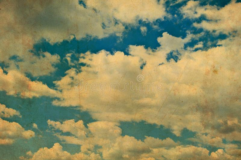 Retro blue sky background stock image