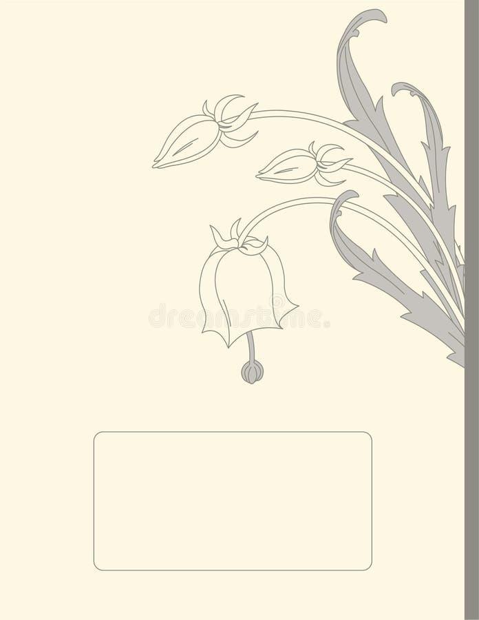 Retro- Blumen stock abbildung