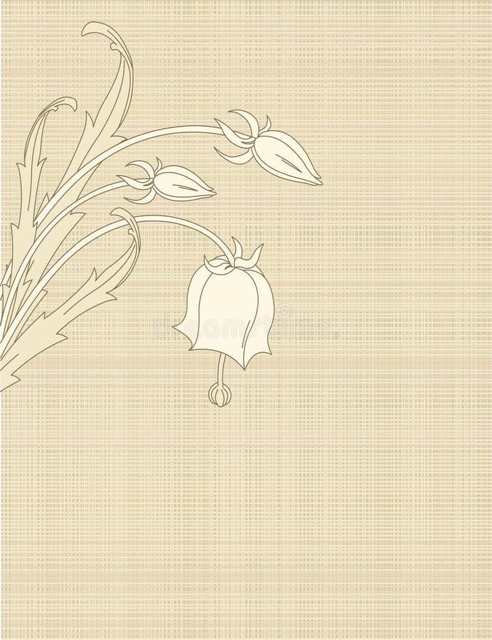 Retro- Blumen auf Segeltuch stock abbildung
