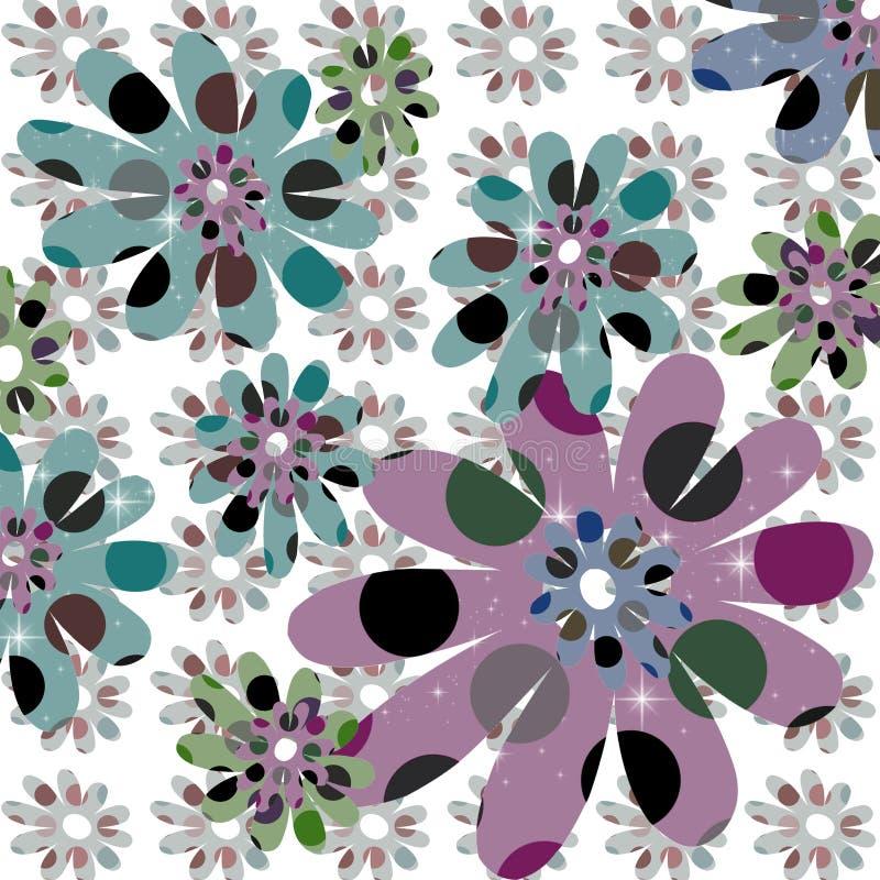Retro- Blumen-Auslegung vektor abbildung