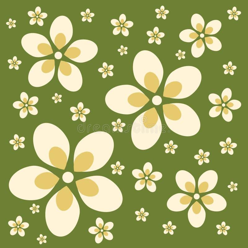 Retro- Blumen-Hintergrund lizenzfreie abbildung