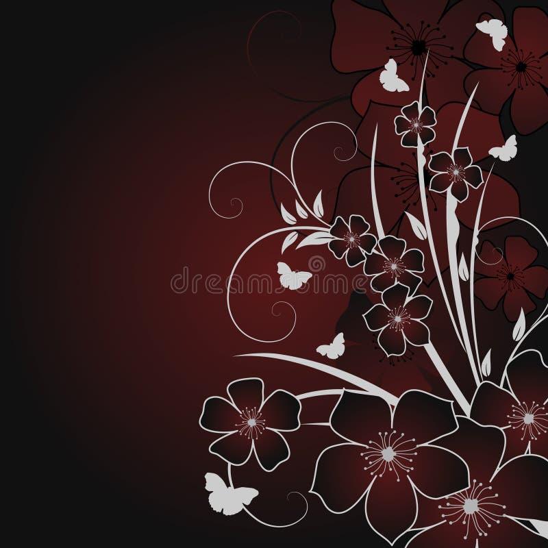 Retro- Blumenhintergrund stock abbildung