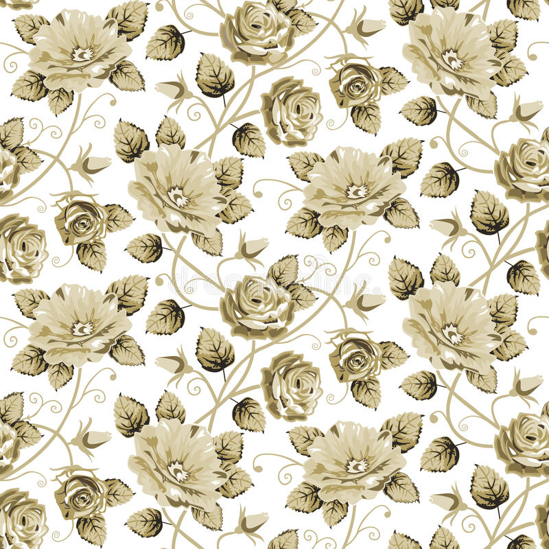 Retro- Blumenmuster stock abbildung
