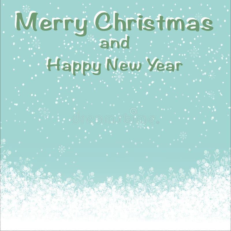 Retro boże narodzenia i nowy rok dla wakacyjnego tła ilustracji