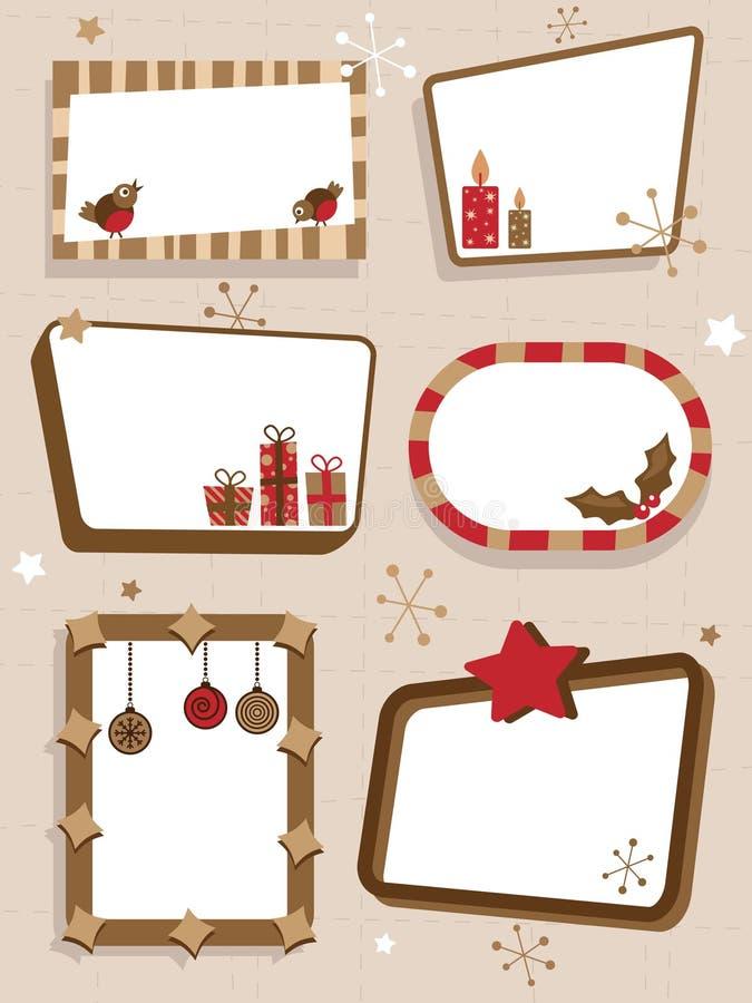 retro Boże Narodzenie znaki ilustracji