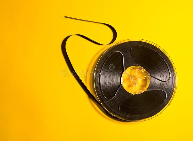 Retro bobina musicale immagine stock