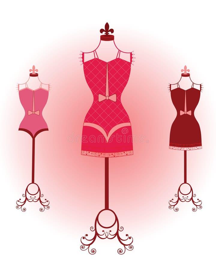 Download Retro bodyforms stock vector. Image of corset, adorn, display - 9707022