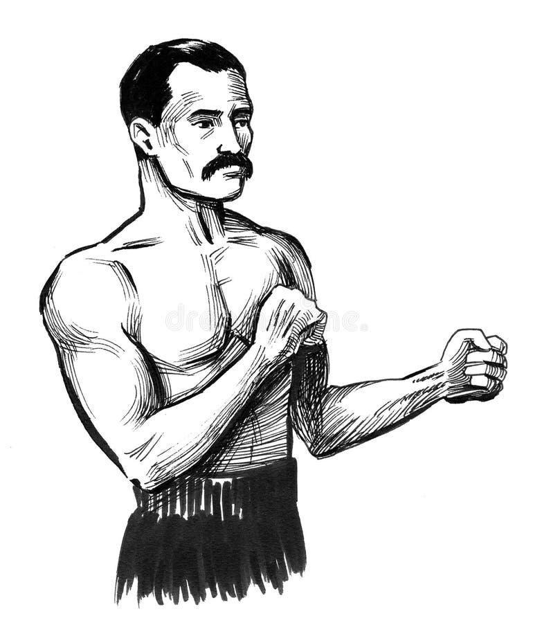 Retro bokser royalty-vrije illustratie