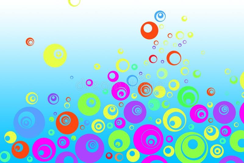 Retro bolle variopinte royalty illustrazione gratis