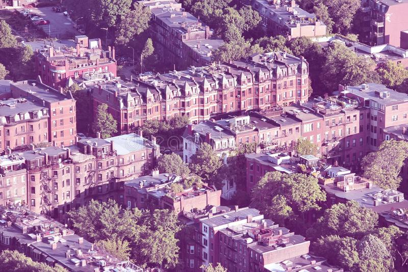 Retro Boston arkivfoton