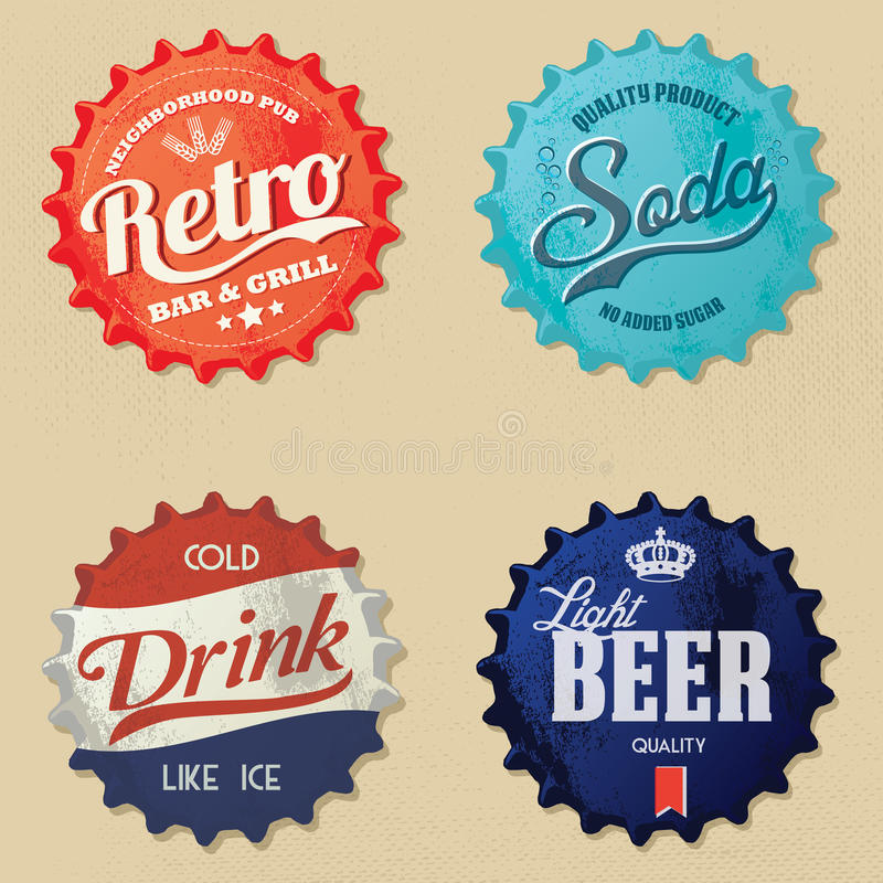 Retro bottle cap Design stock illustration