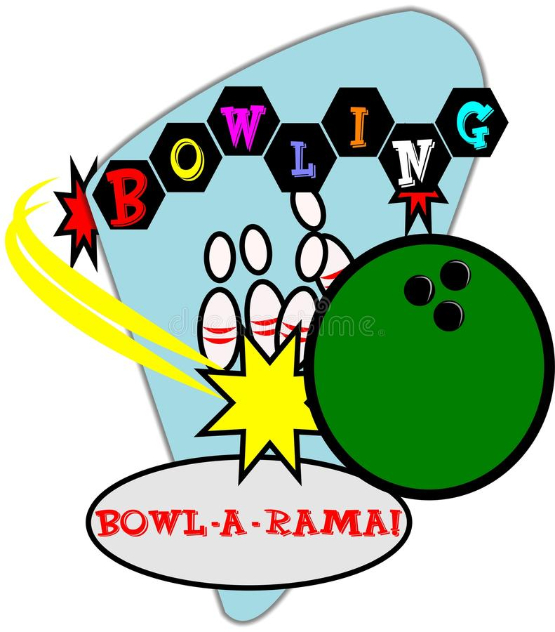 Retro Bowling Background Stock Images