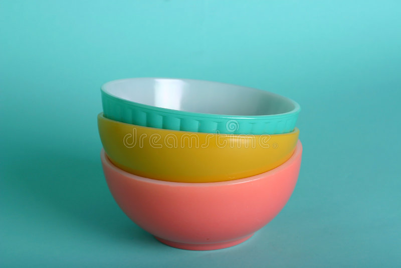 Retro bowls royalty free stock image