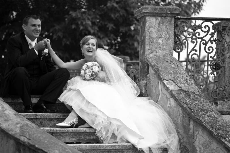 retro bröllop för par arkivbilder