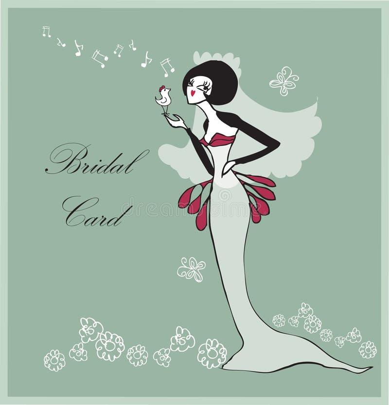 Download Retro Bridal Wedding Flowers, Brides Stock Illustration - Image: 15878445