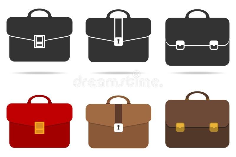 Retro briefcase vector illustration