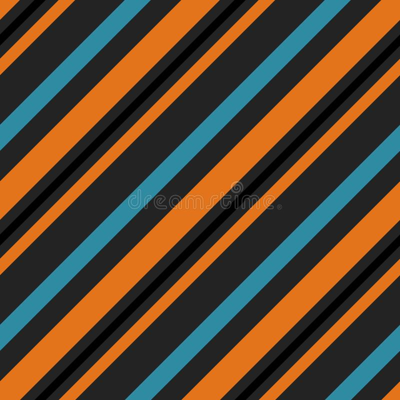 Retro Bright Colorful seamless stripes pattern. Abstract vector background. Stylish colors stock illustration