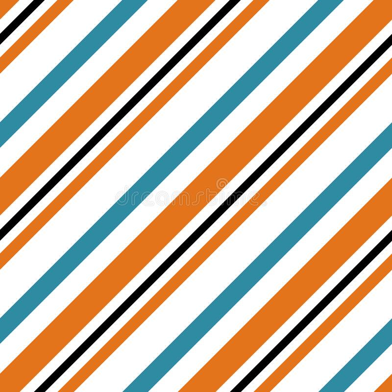 Retro Bright Colorful seamless stripes pattern. Abstract vector background. Stylish colors. Eps10 royalty free illustration