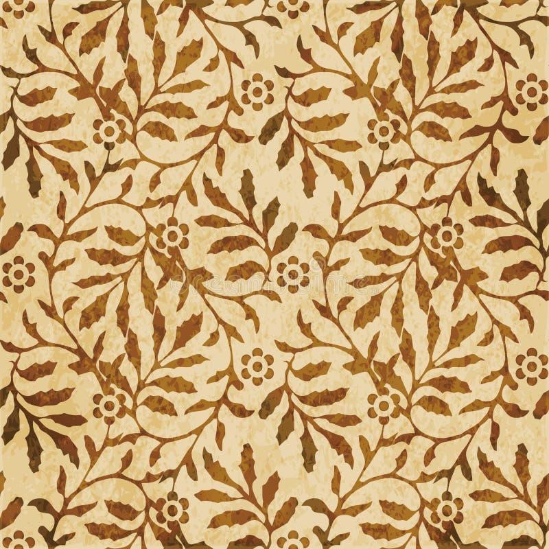 Retro brown akwareli tekstury grunge tła bezszwowa spirala ilustracji