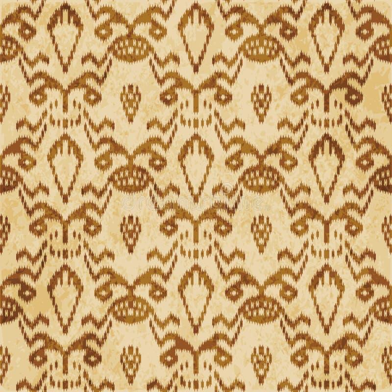 Retro brown cork texture grunge seamless background geometry sawtooth frame. A Retro brown cork texture grunge seamless background geometry sawtooth frame vector illustration