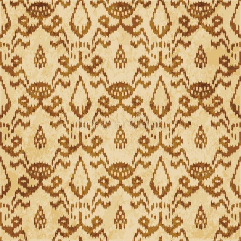 Retro brown cork texture grunge seamless background Sawtooth Edge Aboriginal Cross Botanic Frame stock illustration