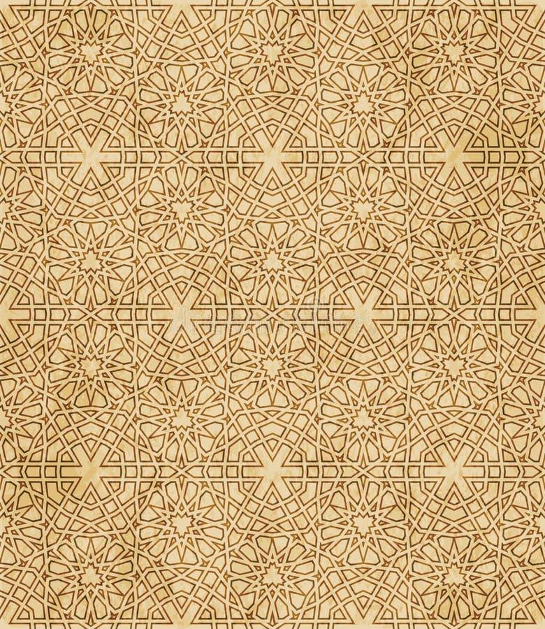 Download Retro Brown Islam Geometrii Wzoru Bezszwowego Tła Wschodni Stylowy Ornament Ilustracja Wektor - Ilustracja złożonej z octagonally, rama: 106900001