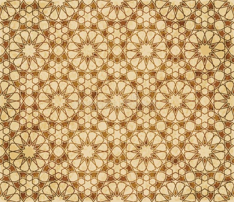Download Retro Brown Islam Geometrii Wzoru Bezszwowego Tła Wschodni Stylowy Ornament Ilustracja Wektor - Ilustracja złożonej z krzyż, antyk: 106900106