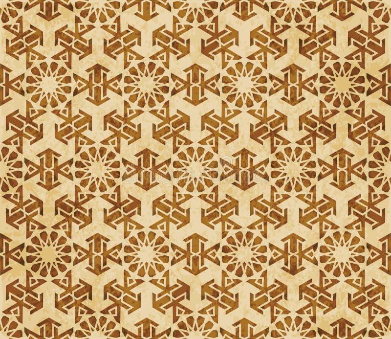 Download Retro Brown Islam Geometrii Wzoru Bezszwowego Tła Wschodni Stylowy Ornament Ilustracja Wektor - Ilustracja złożonej z islamski, stary: 106900139