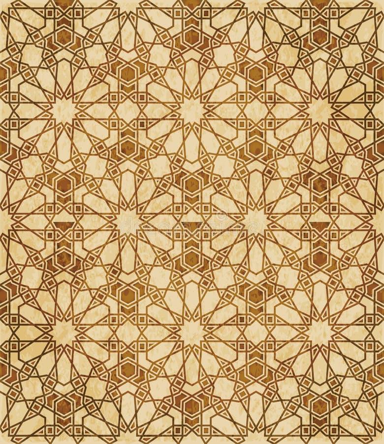 Download Retro Brown Islam Geometrii Wzoru Bezszwowego Tła Wschodni Stylowy Ornament Ilustracja Wektor - Ilustracja złożonej z zatarty, geomorfologiczny: 106900393