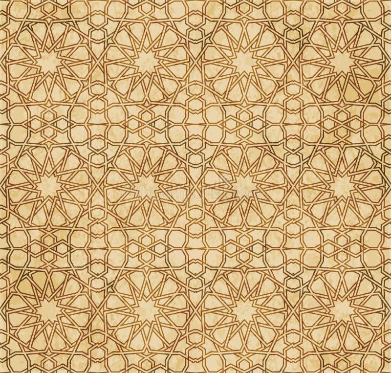 Download Retro Brown Islam Geometrii Wzoru Bezszwowego Tła Wschodni Stylowy Ornament Ilustracja Wektor - Ilustracja złożonej z materiał, krzyż: 106900420