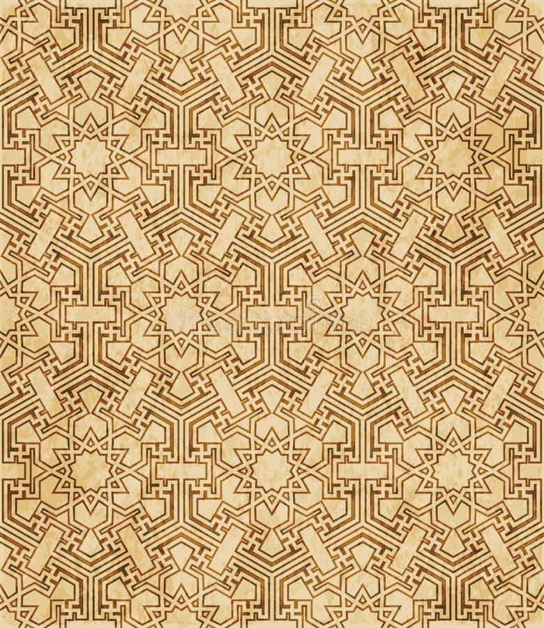 Download Retro Brown Islam Geometrii Wzoru Bezszwowego Tła Wschodni Stylowy Ornament Ilustracja Wektor - Ilustracja złożonej z antyk, octagonally: 106900547
