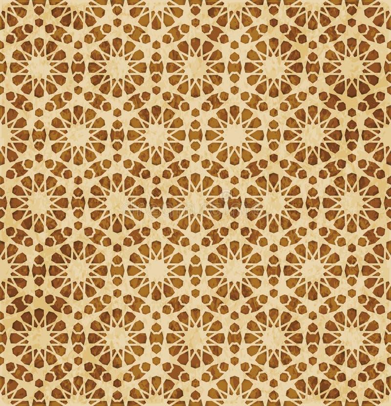 Download Retro Brown Islam Geometrii Wzoru Bezszwowego Tła Wschodni Stylowy Ornament Ilustracja Wektor - Ilustracja złożonej z wielobok, rama: 106900699