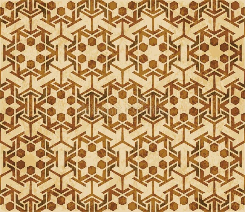 Download Retro Brown Islam Geometrii Wzoru Bezszwowego Tła Wschodni Stylowy Ornament Ilustracja Wektor - Ilustracja złożonej z islamski, orny: 106900716