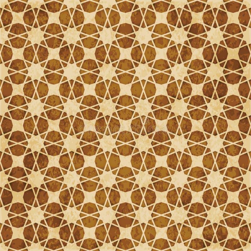 Download Retro Brown Islam Geometrii Wzoru Bezszwowego Tła Wschodni Stylowy Ornament Ilustracja Wektor - Ilustracja złożonej z wschodni, geomorfologiczny: 106900898